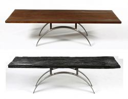 arched steel coffee table
