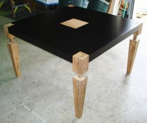 black powder coated table